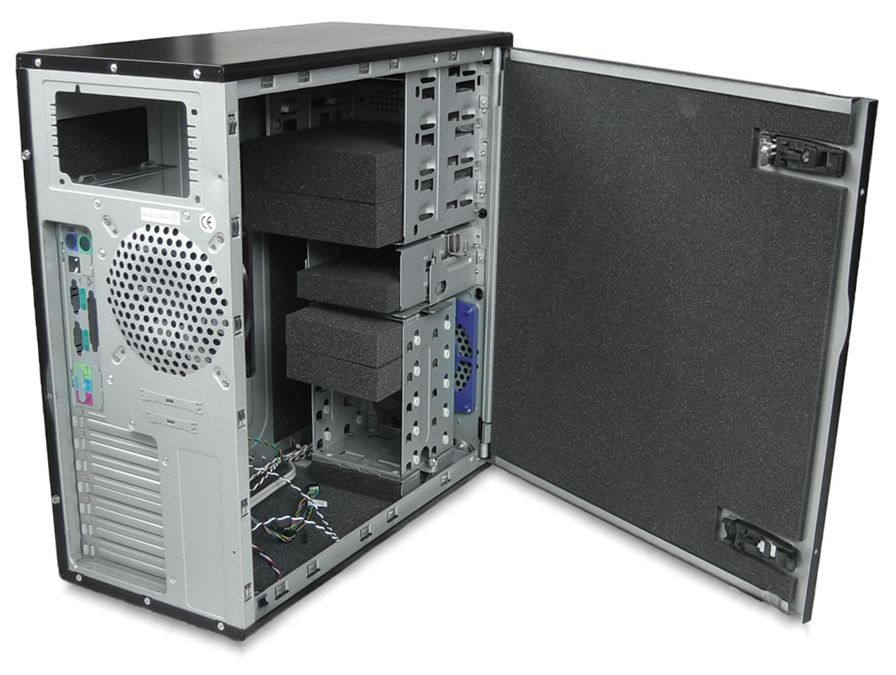 Acousticase Classic C6607b Black Soundproof Tower Case
