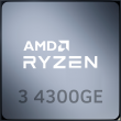 AMD Ryzen 3 4300GE 3.5GHz 4C/8T 35W AM4 APU with Radeon Graphics 6
