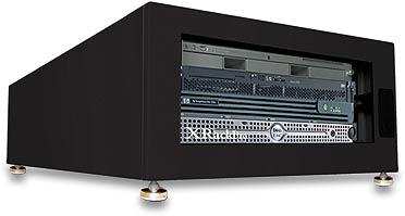 Acousti Xrackpro2 Black Soundproof It Rackmount Cabinets