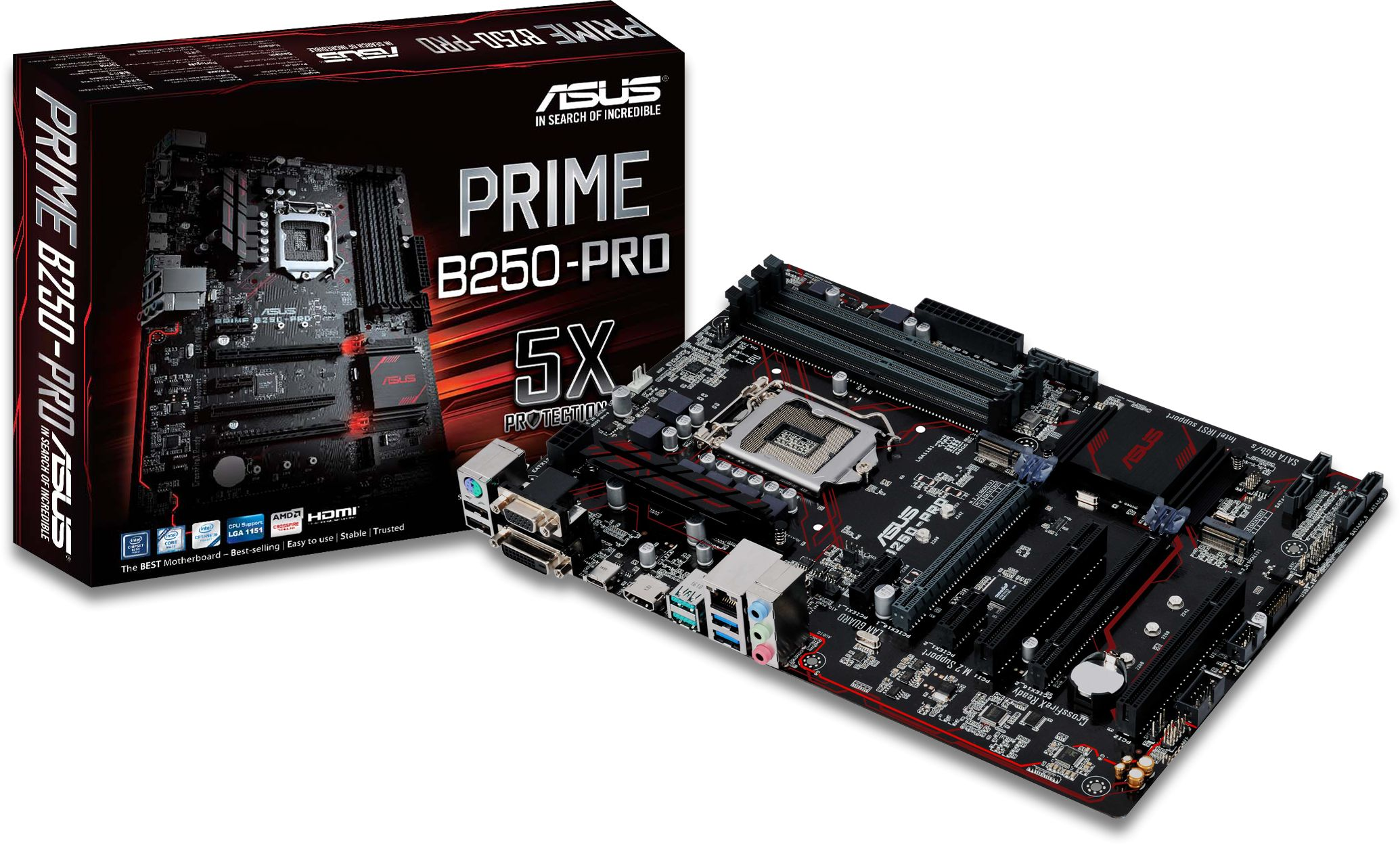 Prime B250 Pro Lga1151 Atx Motherboard Asush170 Socket 1151 Lga Chipset Intel H170 Also Supports Igpu Functionality So Youll Enjoy The Very Latest Integrated Graphics Performance