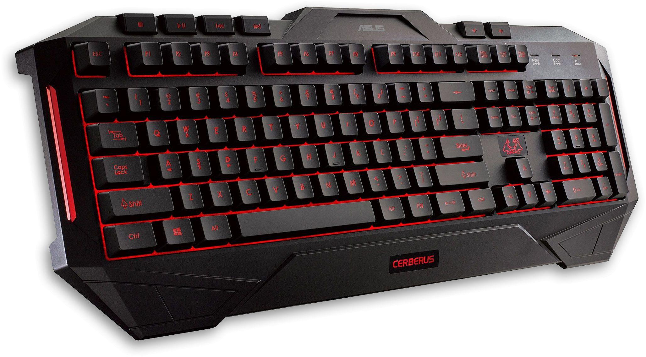 Cerberus Black LED Gaming Keyboard (UK Layout)