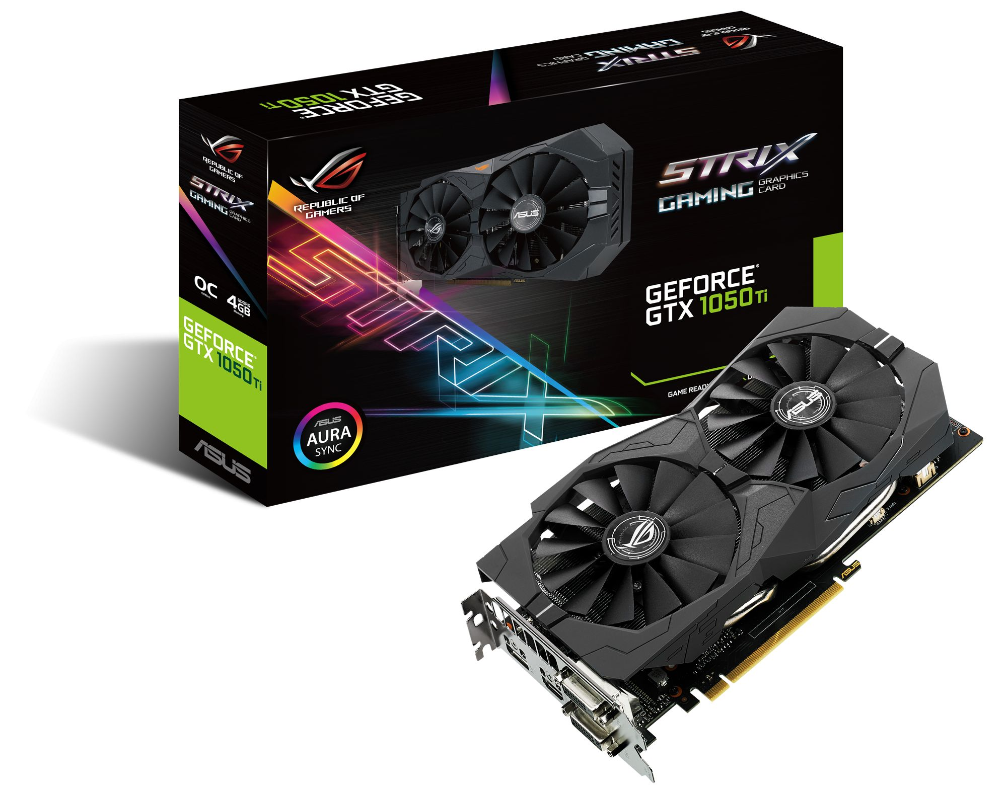 ROG Strix GeForce GTX 1050 Ti also has GPU Tweak II with XSplit Gamecaster  that provides intuitive performance tweaking and instant gameplay streaming.