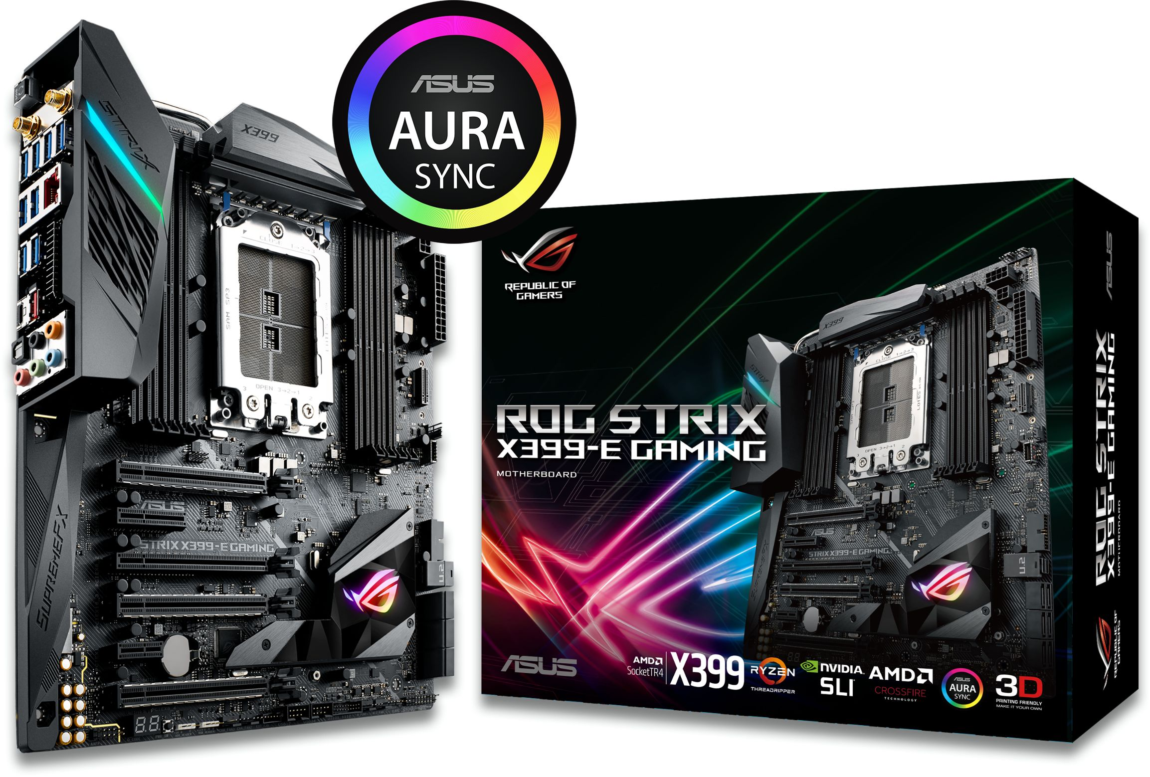 ROG STRIX X399-E GAMING Wi-Fi AMD SocketTR4 EATX Motherboard