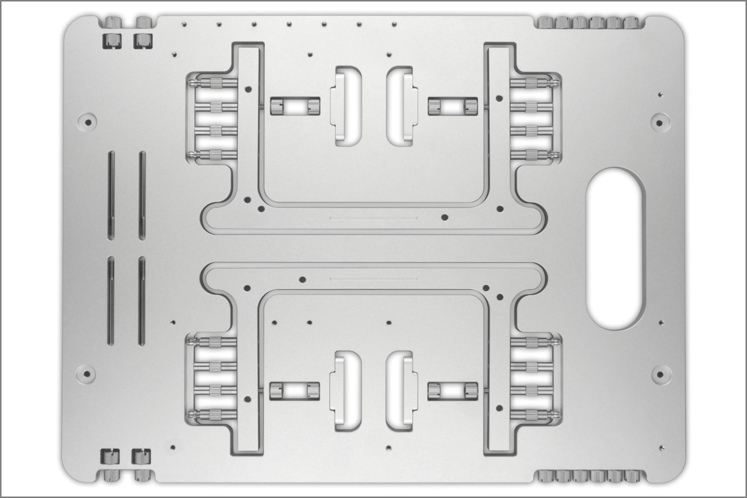 Streacom St Bc1 Aluminium Open Benchtable Table Fan Diagram Integrated Mounting Brackets Support System Fans And Radiators In A Variety Of Configurations