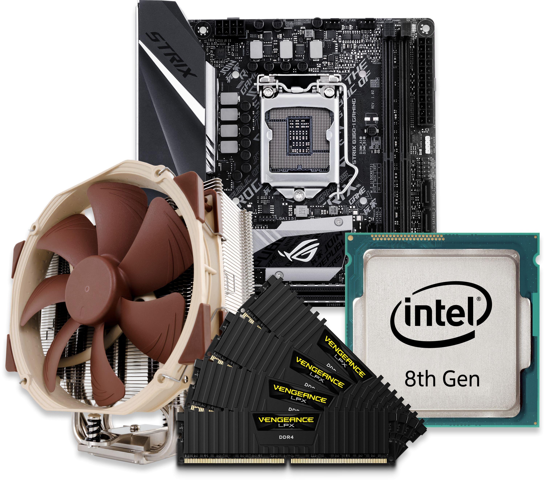 intel 8th gen cpu and mini itx motherboard bundle
