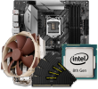 Quiet PC Intel 8th Gen CPU and micro-ATX Motherboard Bundle