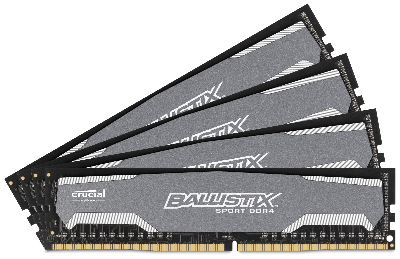 Crucial DDR4 Ballistix Sport 2400MHz CL16 Memory Kits