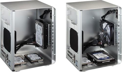 Internal view showing HDD/SSD options