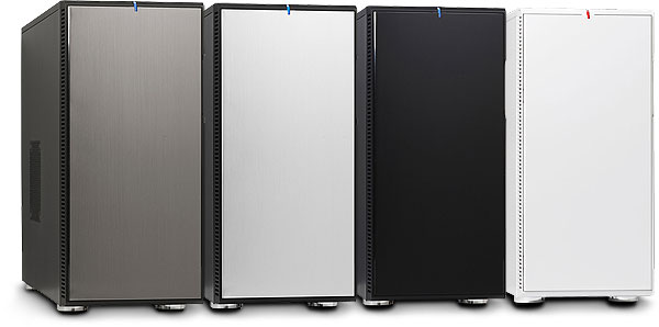 Fractal Design Define R3 Computer Cases, showing the four different coloured front panels