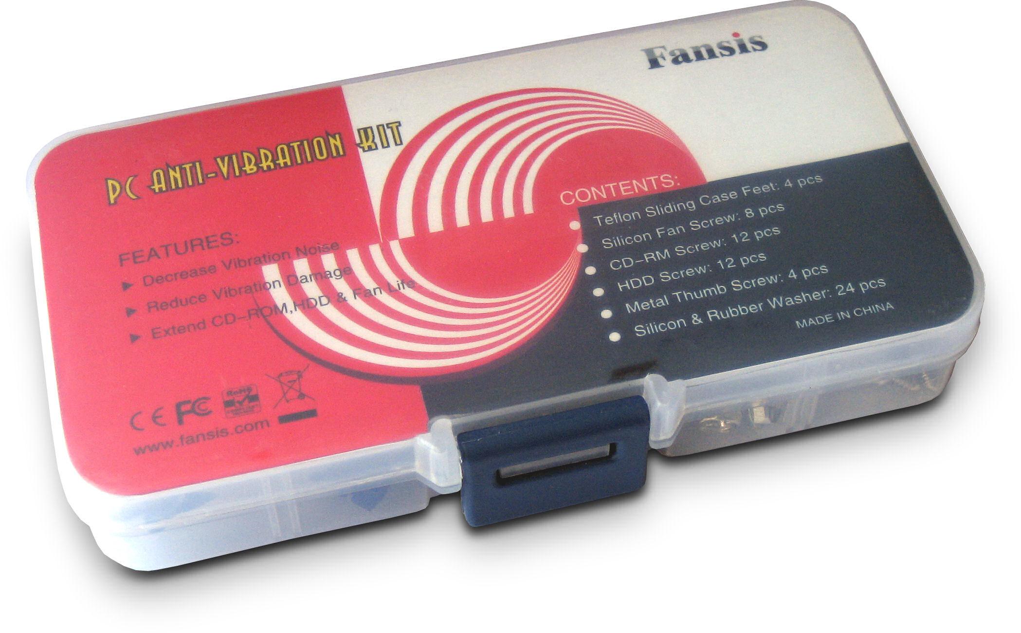 KOTVTM 32 PCS Rubber Anti Vibration Mount Screw Pin Rivet,for PC Case Fans Anti Vibration