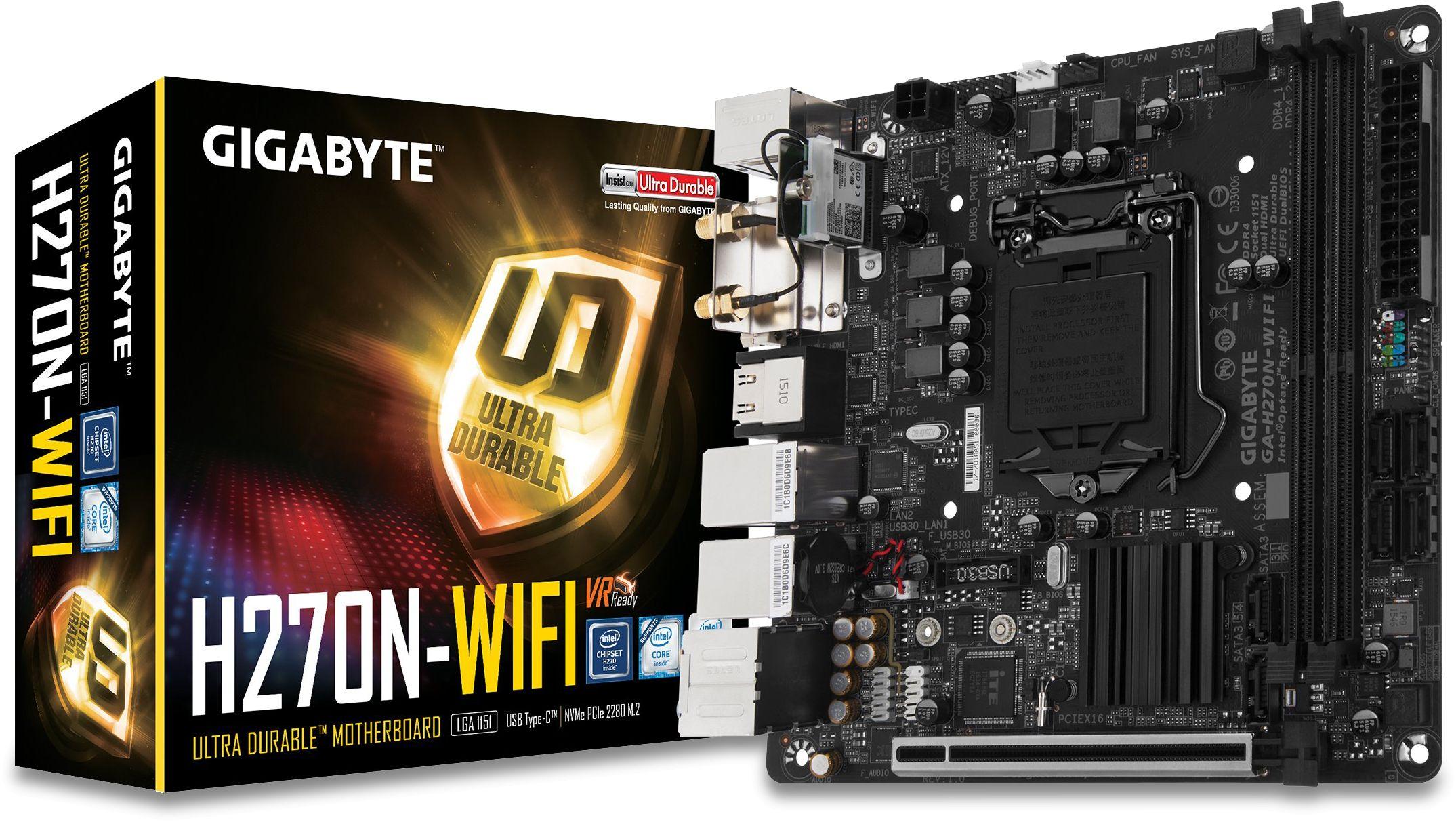 GA-H270N-WIFI LGA1151 Mini-ITX Motherboard