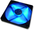 Slim 12 PL Blue, Silent Slim 120mm PWM Fan with LEDs