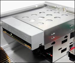 The HD160+ is compatible with most 5 optical drive for maximum compatibility