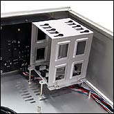 Anti-vibration hard drive cage