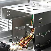 Sliding HDD and ODD Chassis provide easy installation and removal