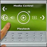 Touch screen media control function