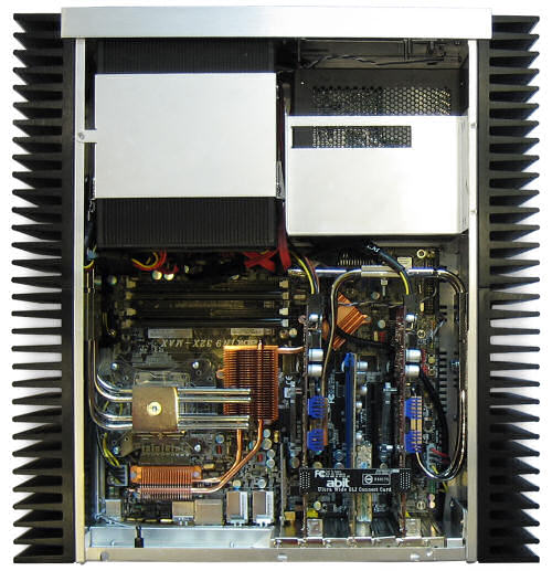 Internal view of the HFX Classic as it would look with components installed (components not supplied with case)