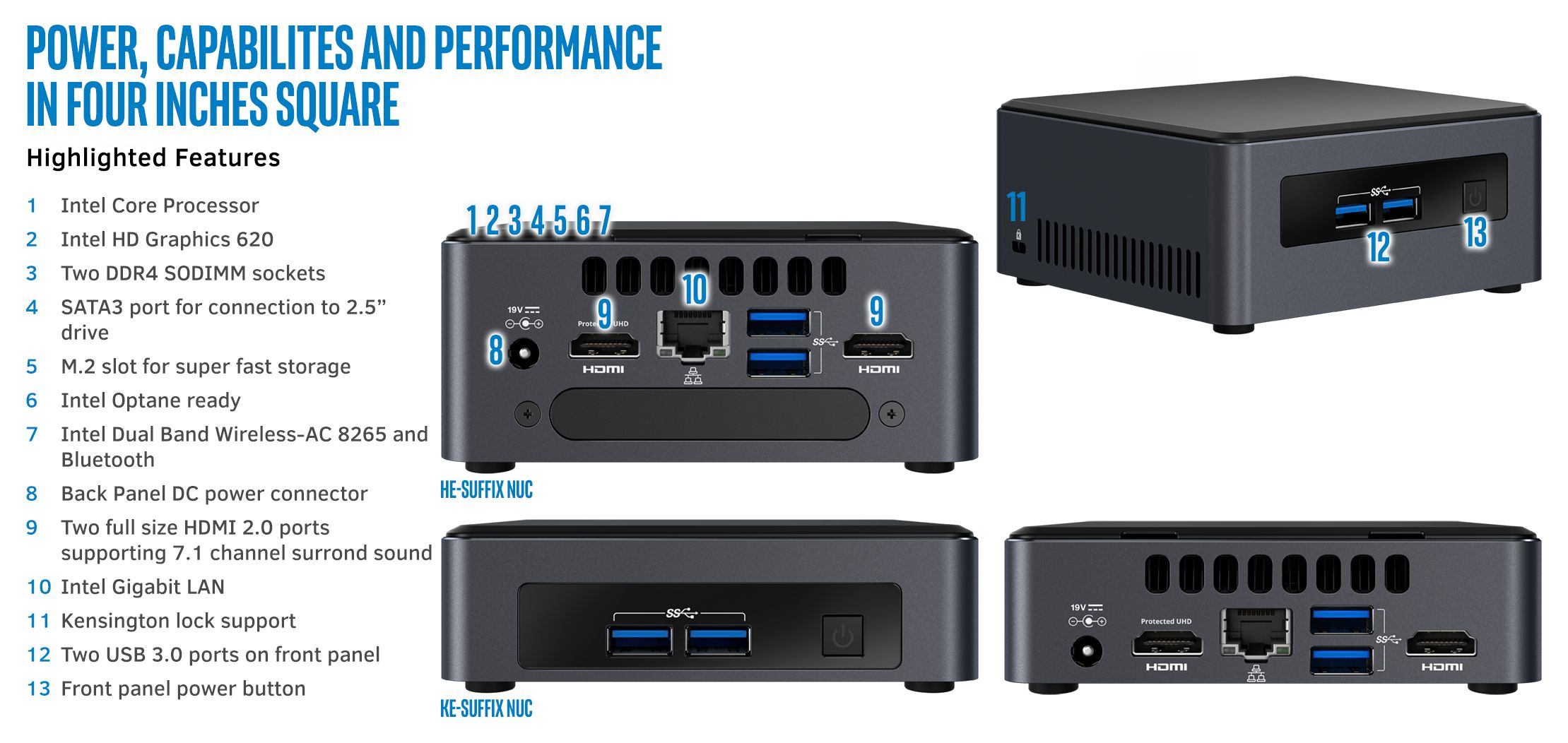 Intel NUC 7th Generation Dawson Canyon Next Unit of