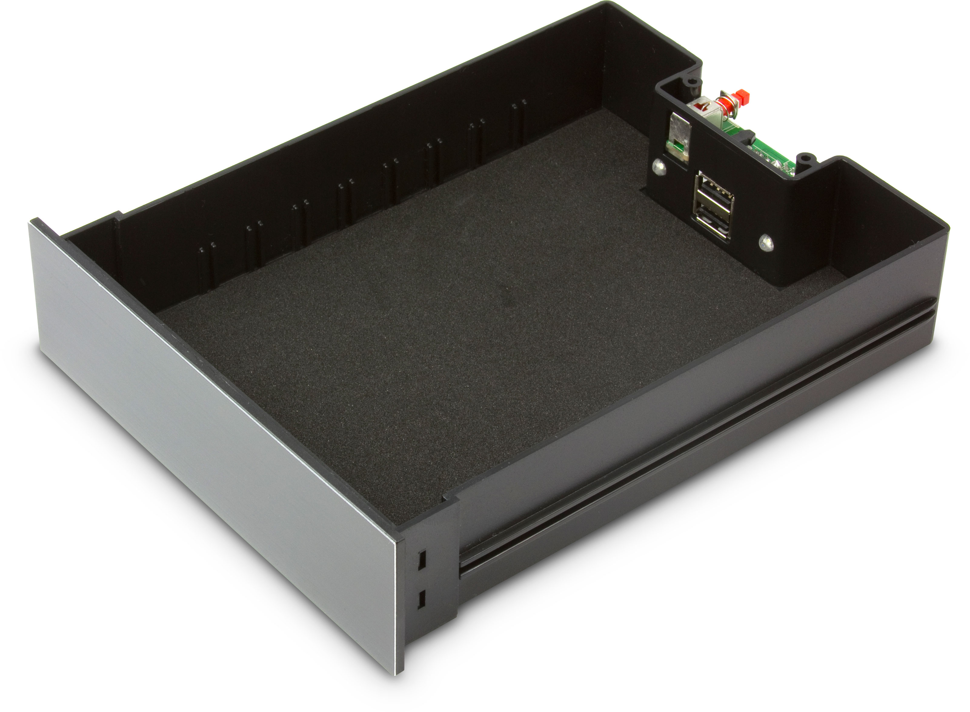 Is there any bay storage box with led lights inside Storage bay