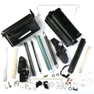 Conventional toner cartridge contains over 60 metal, plastic and foam components.
