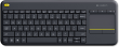 K400 Plus Black Wireless Touch Keyboard (UK Layout)