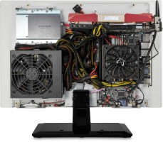 Mono AIO shown with components installed (not included)