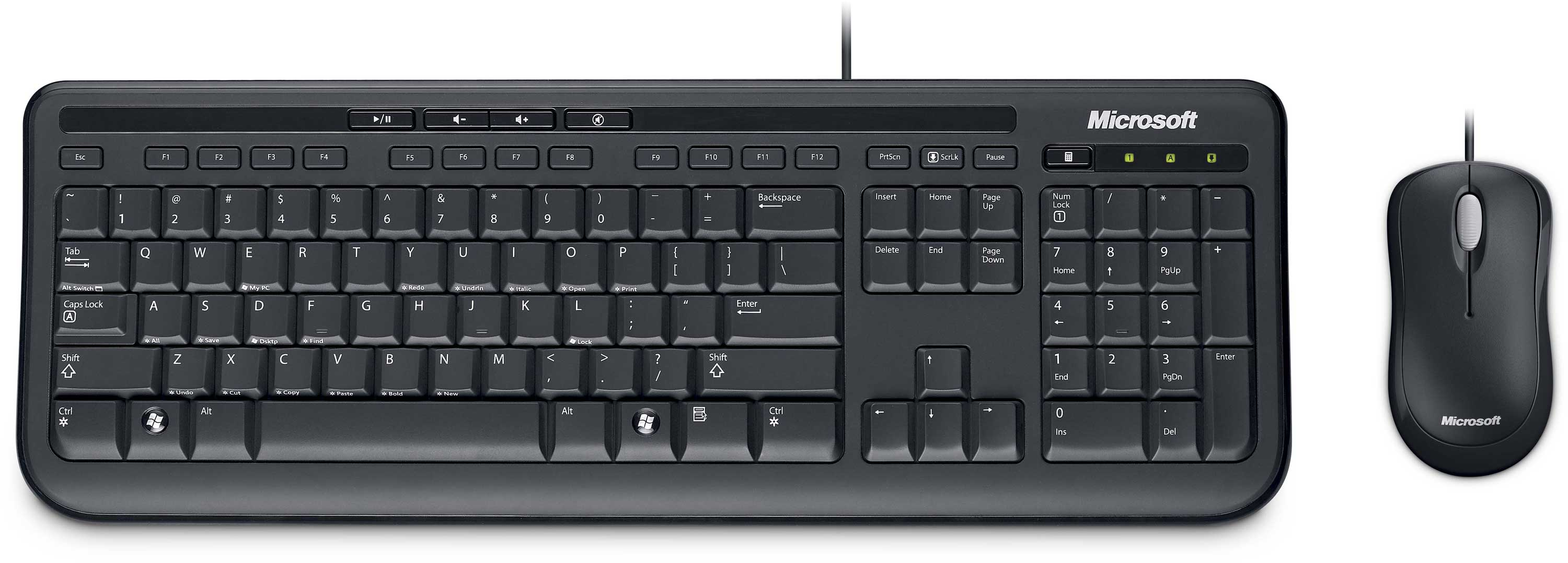 Desktop  Wired Keyboard And Mouse UK Layout - Map us keyboard to uk