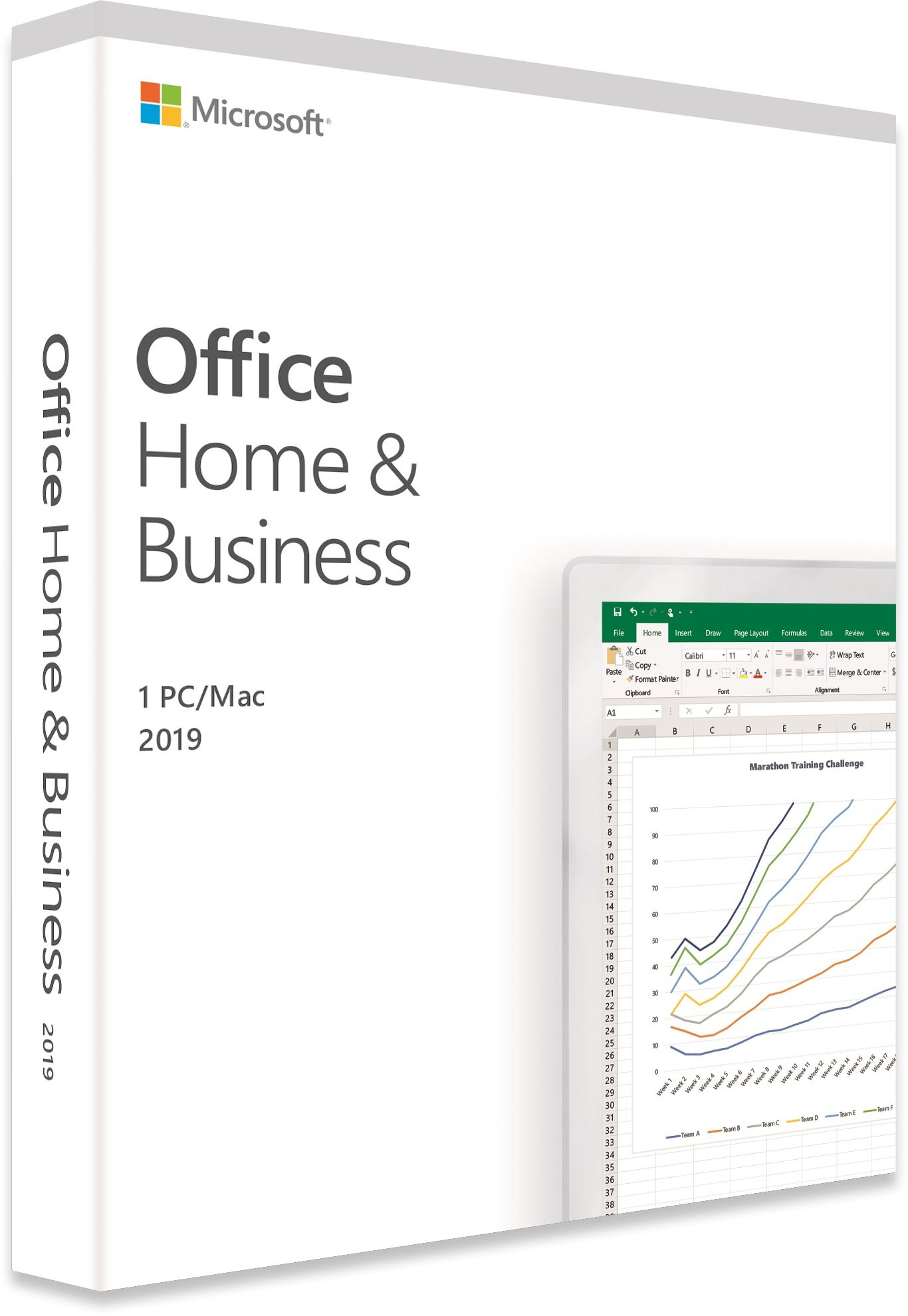 Office 2019 Home & Business, 1 PC Licence, Medialess