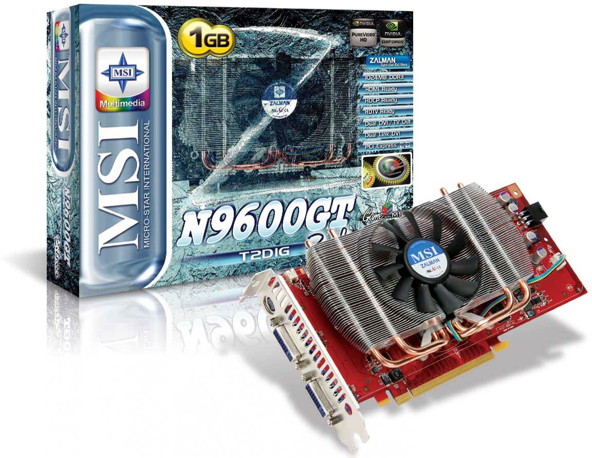 NVIDIA Ultra-Quiet 9600GT-ZILENT 1GB DDR3 PCI-E HDMI