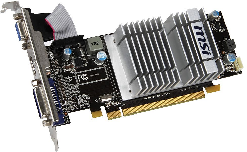 ATI R5450 Fanless 1GB Graphics Card PCIE DX11