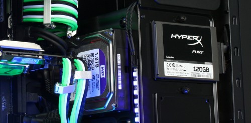 The ModuWand is designed to hold HDDs as shown. It can be removed to allow for longer graphics cards to be installed if required