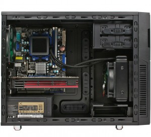 Internal view showing watercooling possibilities