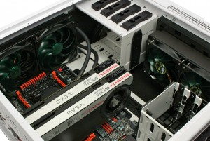 Top and front watercooling options