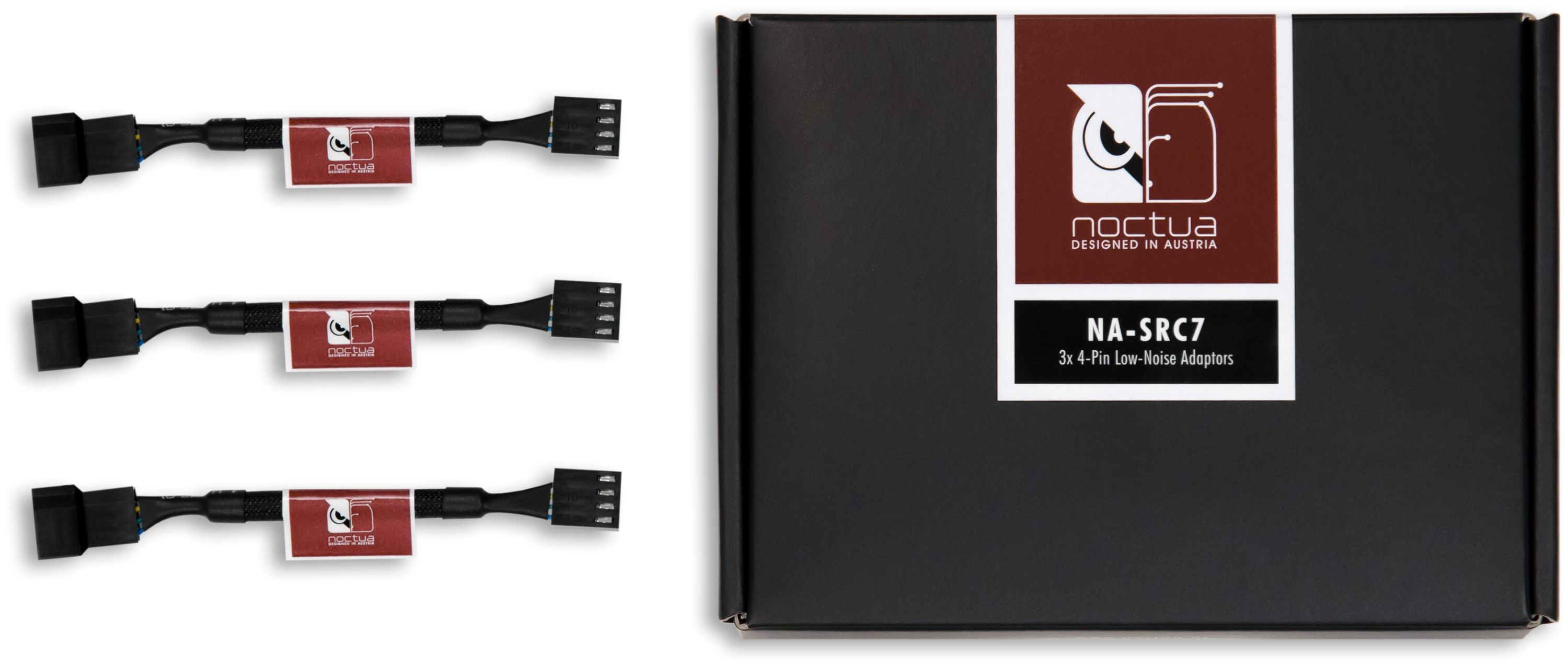 Na Src7 4 Pin Pwm Low Noise Adaptors 3 Pack