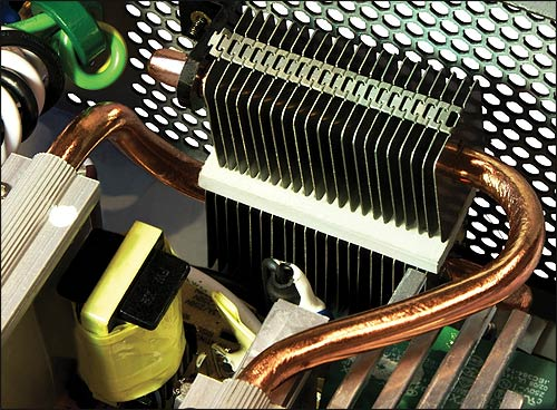 The X-Zero features heat-pipe cooling for a cooler PSU!