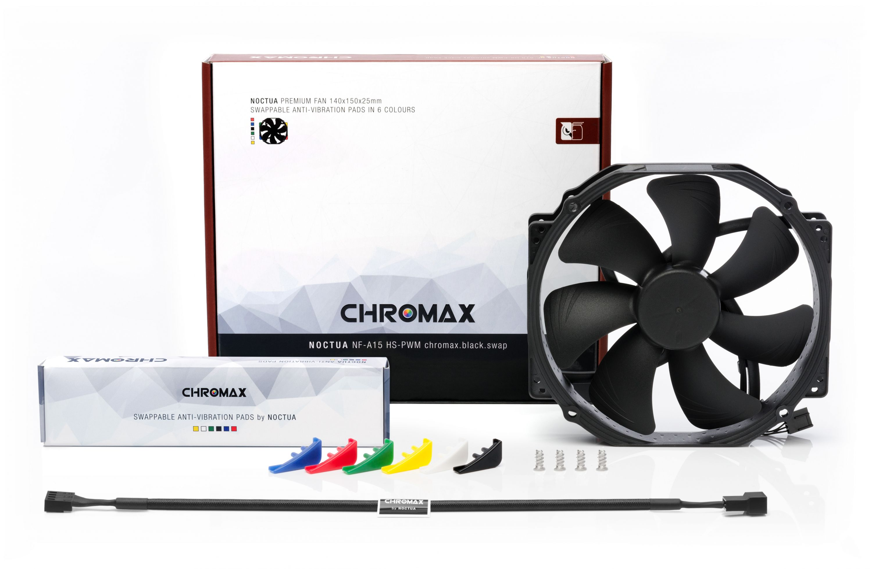 NF-A15 HS-PWM CHROMAX 12V 1500RPM 140mm Round Frame Premium Fan