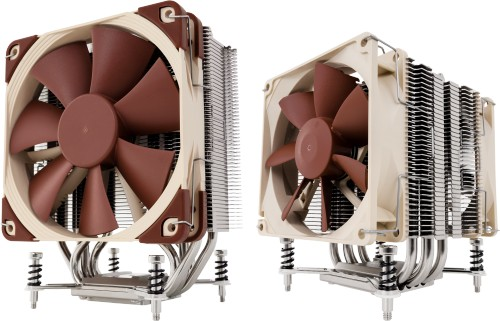 NH-U12DX i4 (left) and NH-U9DX i4 Intel Xeon CPU coolers