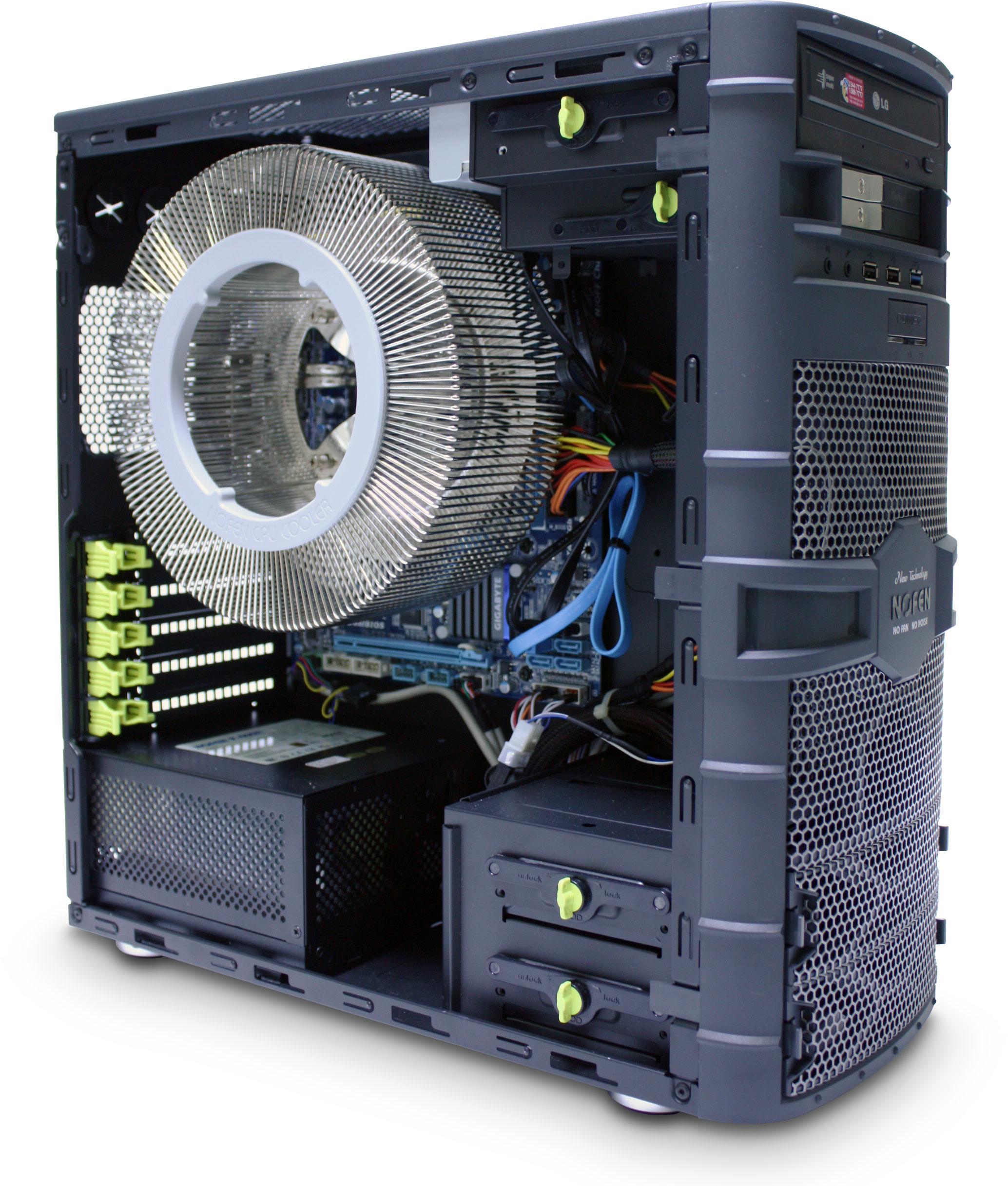 SET-A43 Fanless Bundle: CS-60 Case, 400W PSU and CPU Cooler