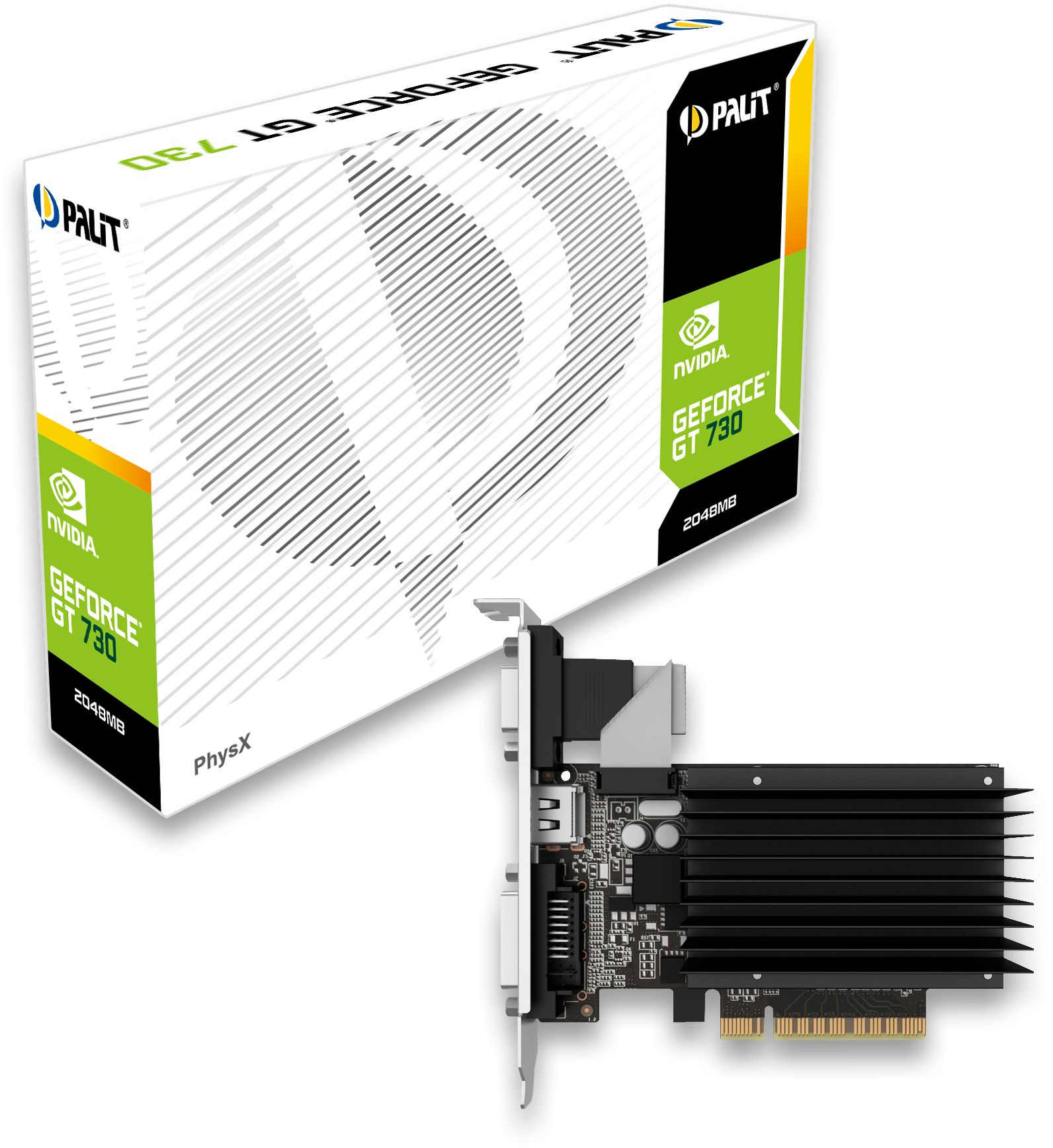 Geforce Gt730 2gb Ddr3 Fanless Graphics Card Neat7300hd46 2080h Msi Gt 630 1gb Palit Replaces The Gt630