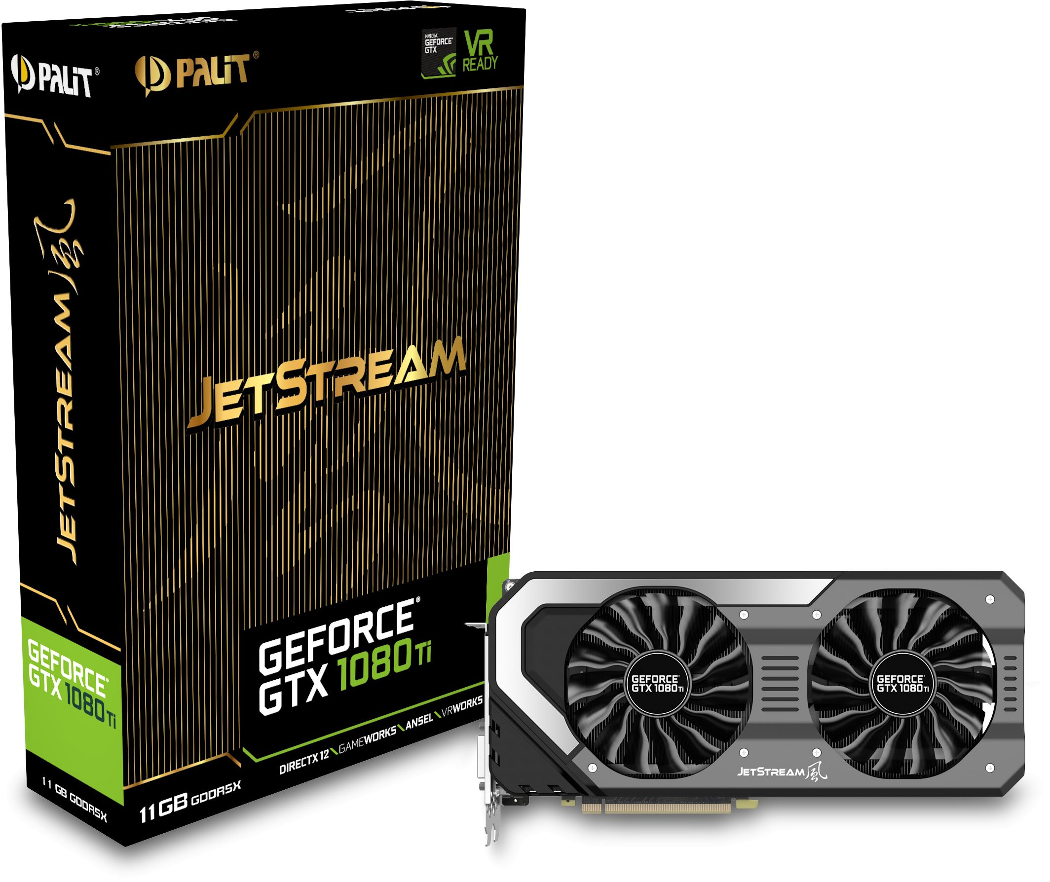 Geforce Gtx 1080 Ti Jetstream 11gb Gddr5x Neb108t015lc 1020j Gaming Technologies The Palit Series Guarantee Gamers Cutting Edge Performance And A Explosive New Experience