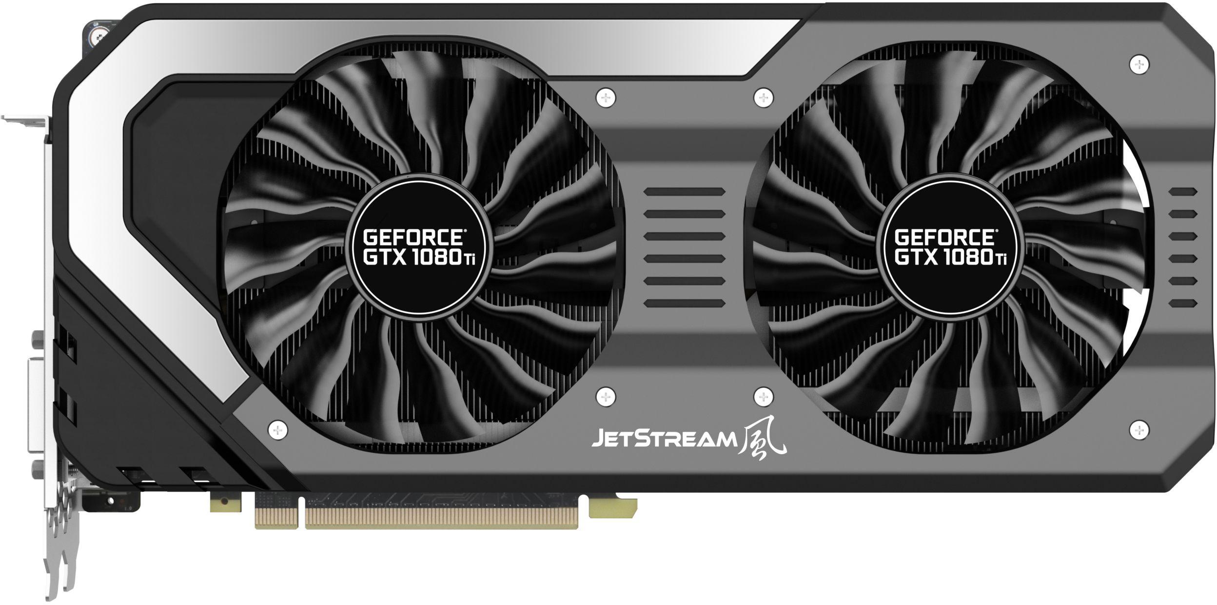 Kết quả hình ảnh cho VGA 1080TI 11G Palit  Jetstream 2 fan
