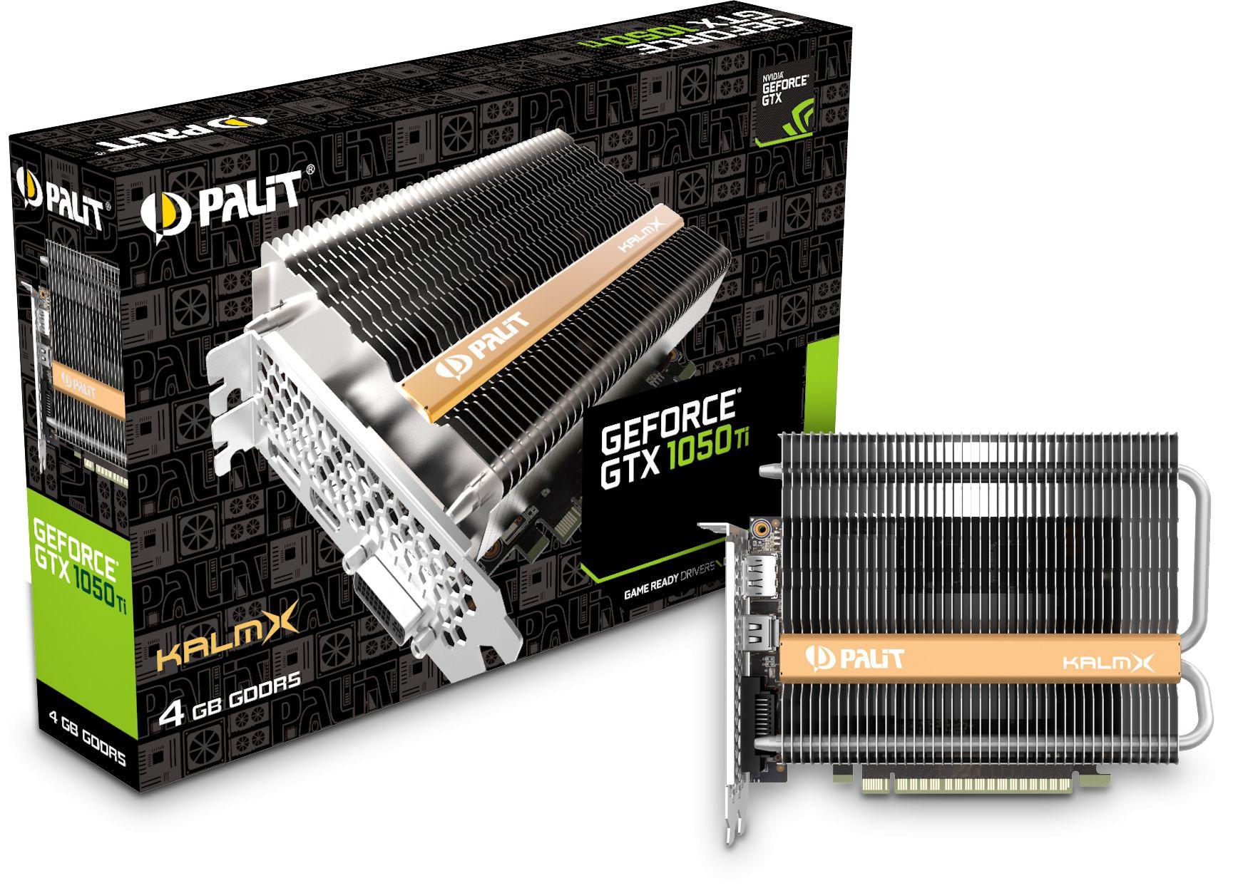 Kết quả hình ảnh cho Palit GeForce GTX 1050 Ti KalmX