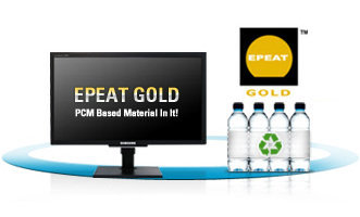 Samsung's monitor division is positioned at the cutting-edge of green electronics, making ecological design, manufacture, and operation a top priority. EPEAT Gold is the highest award available.