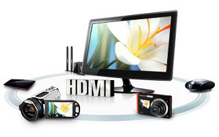 Samsung's HDMI connection is the fastest, most secure way of connecting High Definition devices to your monitor. Devices connect with ease and give the purest digital picture available.