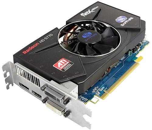 ATI HD5770 FleX 1GB GDDR5 Supports up to 4 Monitors