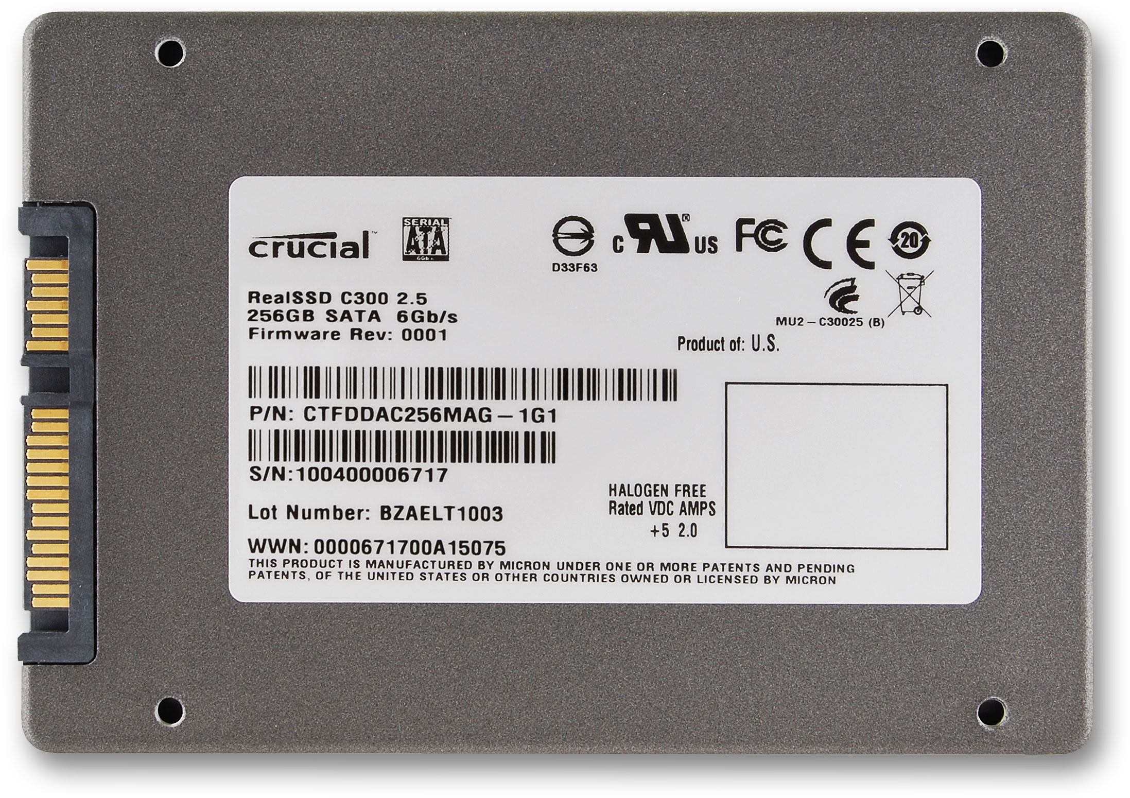 Crucial Realssd C300 2 5 Inch Sata 6gb S