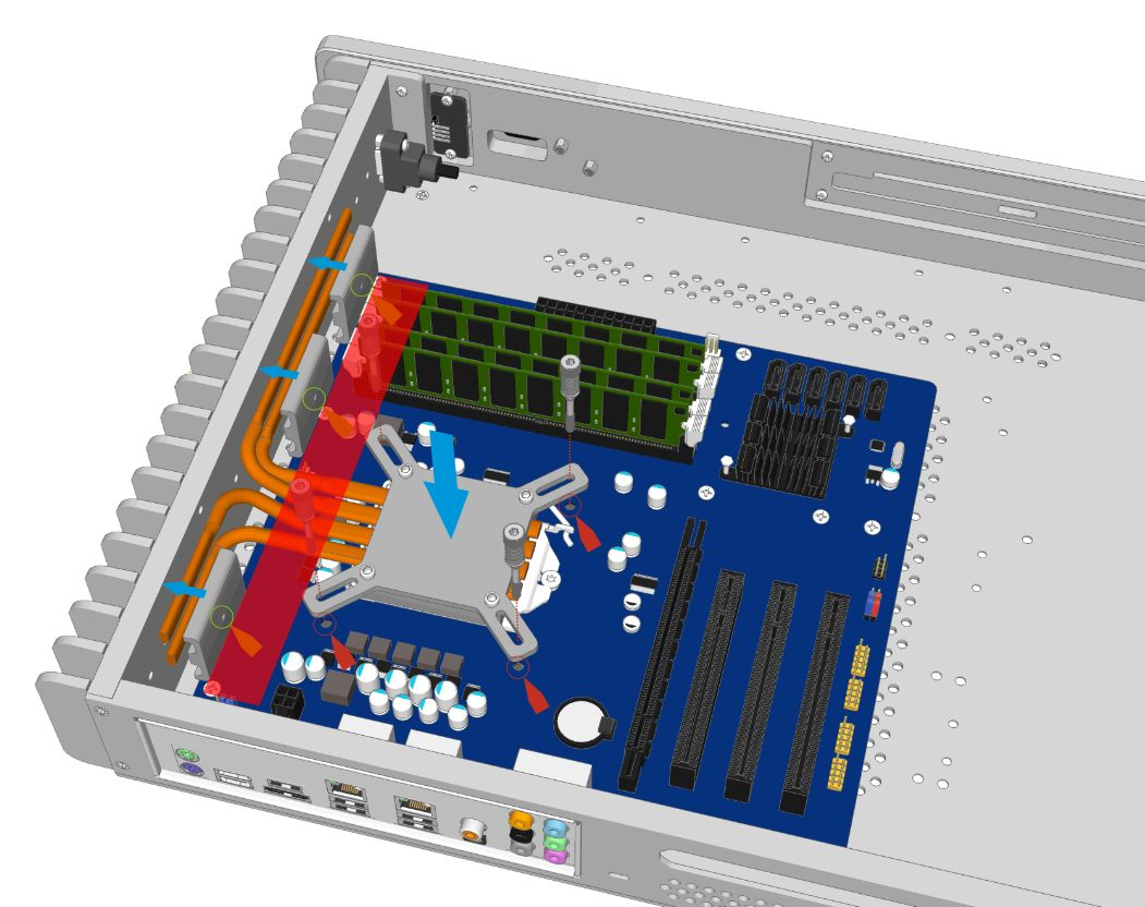24-Pin Motherboard Obstruction
