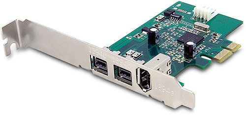 Dual 800 Mbps + Single 400 IEEE 1394 FireWire PCIe Card