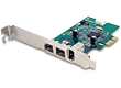 B-Grade Dual 800 Mbps + Single 400 IEEE 1394 FireWire PCIe Card