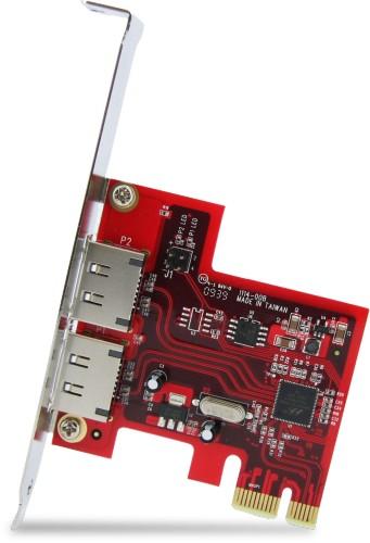 Dual Port Esata External 6gbps Pci Express Card